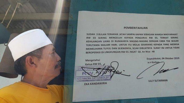 Heboh Pengumuman 'Waspada Tuyul' di Kampung Cilisung Gara-gara Sejumlah Warga Kehilangan Uang