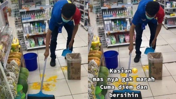 VIRAL Karyawan Minimarket Sabar Bersihkan Telur yang Dipecahkan Pembeli, Begini Cerita di Baliknya