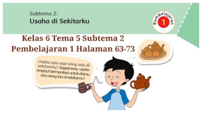Kunci Jawaban Tema 5 Kelas 6 SD: Halaman 63,64,65,69,70,71,72,73 Tematik Subtema 2 Pembelajaran 1