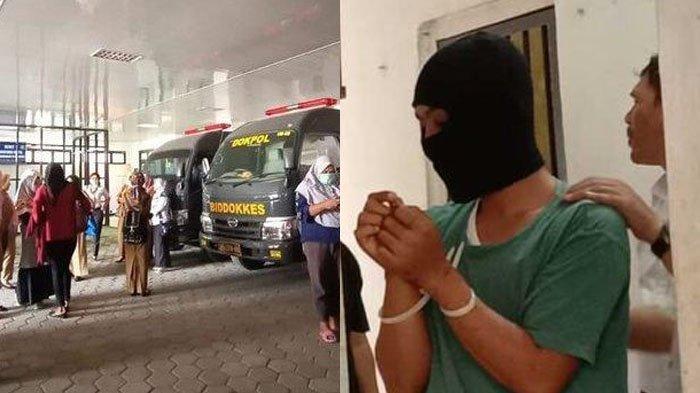 Suasana Rumah Sakit Bhayangkara, Kota Bengkulu, tempat jasad Wina diautopsi - Polisi mengamankan tersangka penadah motor milik mahasiswi di Bengkulu yang tewas dibunuh.