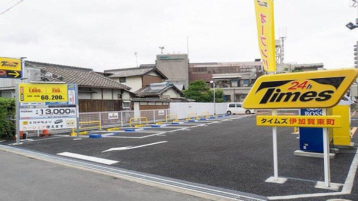 Tempat parkir berbayar dan sewa mobil di Jepang.