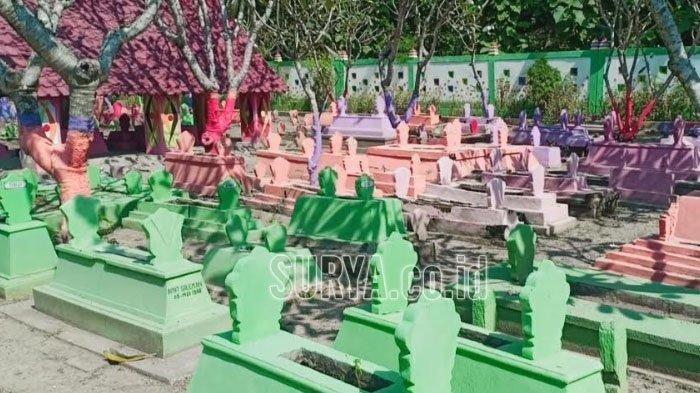 Viral Makam Dicat Warna Warni Di Madiun Berawal Dari Lomba Kebersihan Hingga Jadi Tempat Foto Warga Tribunnews Com Mobile