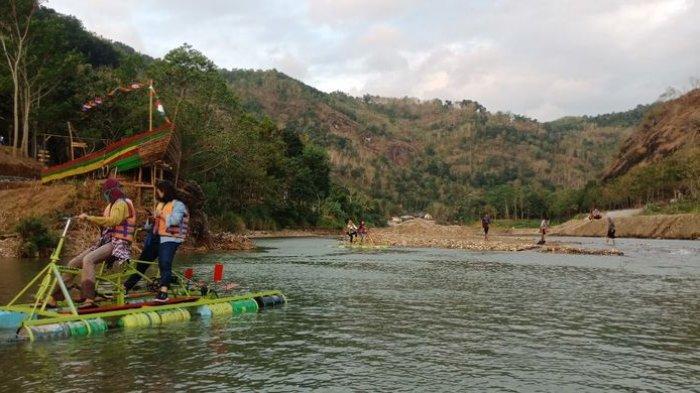 Tempat wisata di tengah perbukitan bernama Desa Wisata Srikeminut di Yogyakarta.