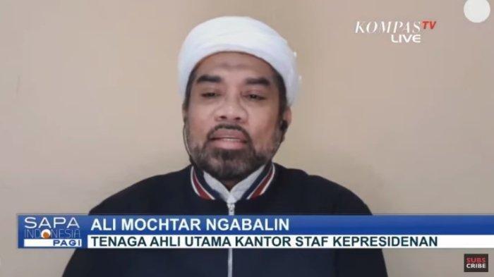 Tenaga Ahli Utama KSP Ali Ngabalin menjelaskan pengerahan aparat TNI dan Polri dalam penerapan new normal, Rabu (27/5/2020).