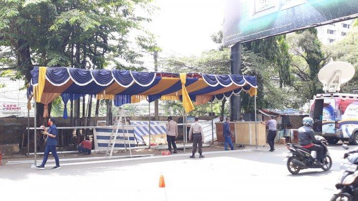 Tenda Pos Pantau Dilarang Mudik di Kota Bekasi Baru Didirikan