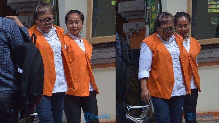Para terdakwa kasus dugaan pelaku bisnis prostitusi yang melibatkan anak, seusai menjalani sidang perdana di PN Denpasar, Senin (20/5/2019). TRIBUN BALI/PUTU CANDRA