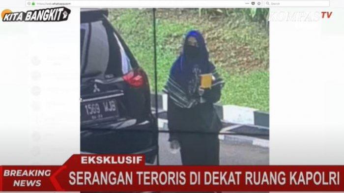 Terduga teroris yang menyerang Mabes Polri, Rabu (31/3/2021).