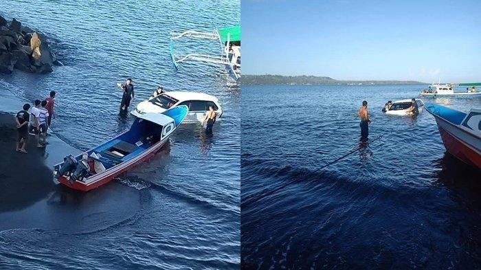 Diduga Pengemudi Mabuk, Mobil Xenia Terjun ke Laut Lepas