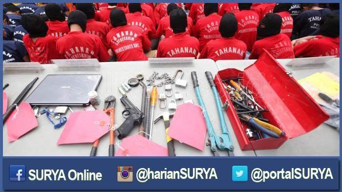 Polda Metro Jaya Ciduk 20 Orang Pelaku Kejahatan Jalanan