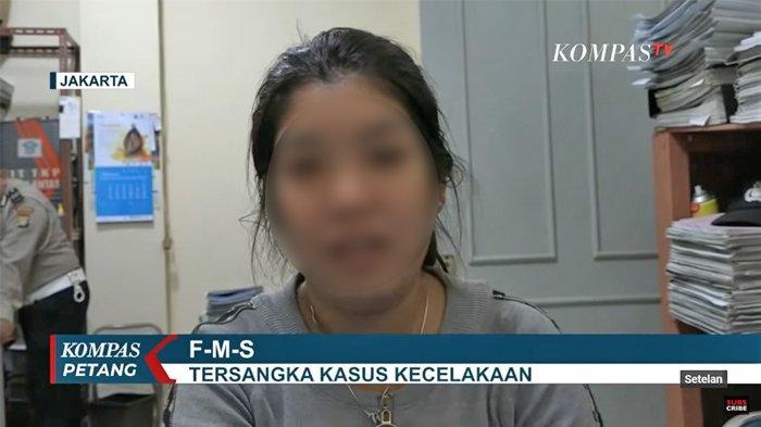 Tersangka kasus kecelakaan, FMS (Tangkap layar channel YouTube KompasTV)
