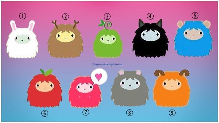 Tes kepribadian gambar monster lucu. Pilihan kamu bisa mengungkap karakter yang kamu miliki.