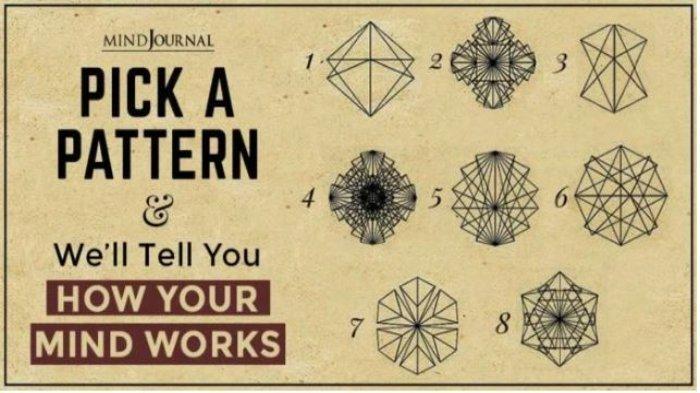 Tes Kepribadian: Pilih Satu Pola untuk Mengetahui Cara Kerja Pikiranmu