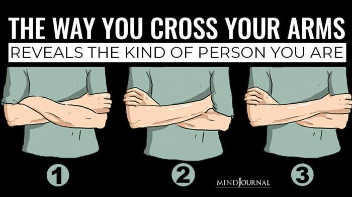 tes kepribadian - menyilangkan kedua lengan tangan