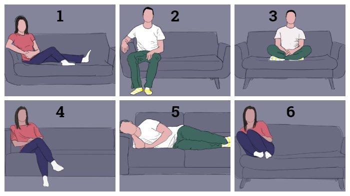 Tes Kepribadian - Bagaimana Posisi Dudukmu di Sofa? Ungkap Sifatmu dan Apa yang Sedang Kamu Rasakan!