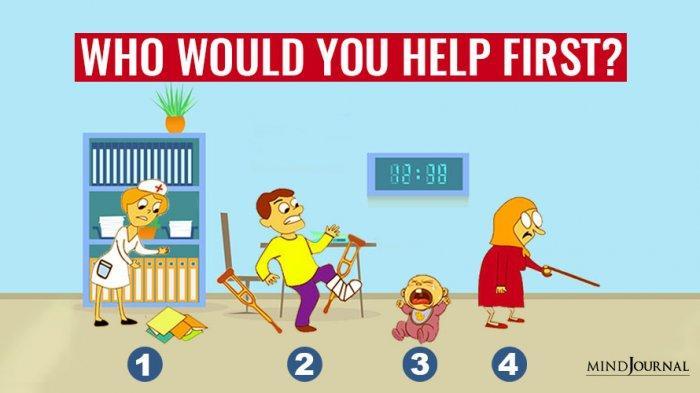 TES KEPRIBADIAN - Siapa yang Pertama akan Kamu Bantu? Jawabanmu Dapat Mengungkapkan Karaktermu