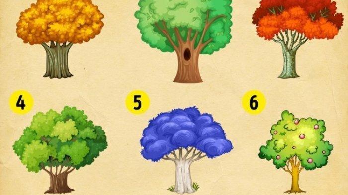 Cobalah Tes Kepribadian Berdasarkan Psikologi Warna Ini, Pohon Pilihanmu Mencerminkan Kepribadianmu