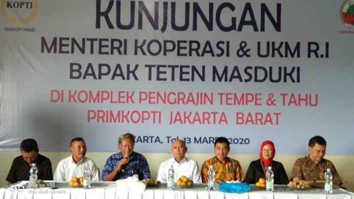 Masyarakat Dunia Sudah Menggemari Tempe kata Teten Masduki Dihadapan Anggota Primkopti Jakarta Barat