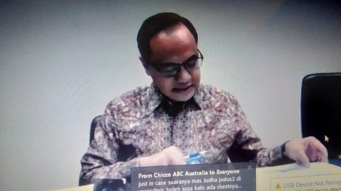 Juru Bicara Kementerian luar negeri (Kemlu RI), Teuku Faizasyah dalam konferensi pers daring, Rabu (22/4/2020).