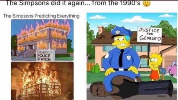 Postingan yang Memperlihatkan Seolah-olah The Simpsons Memprediksi kematian George Floyd