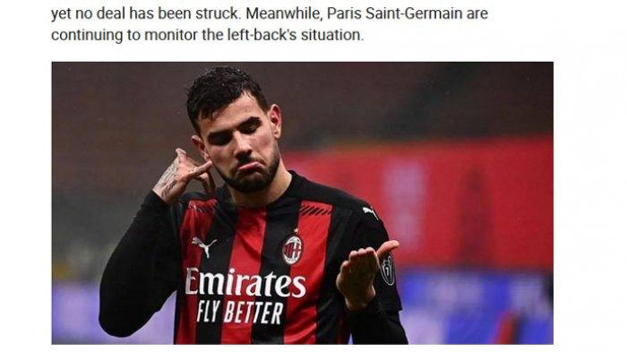 Kabar AC Milan, Malam Ajaib Theo Hernandez,Ibra Meluap di Sisi Lapangan, Winger Inter Mengintip Laga
