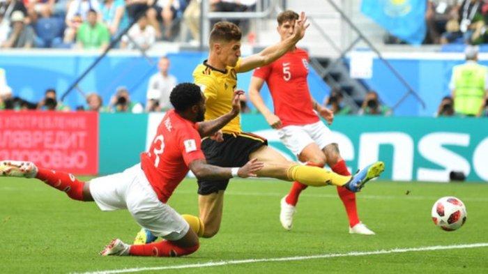 Belgia vs Inggris: Thomas Meunier Bawa Belgia Unggul Sementara 1-0