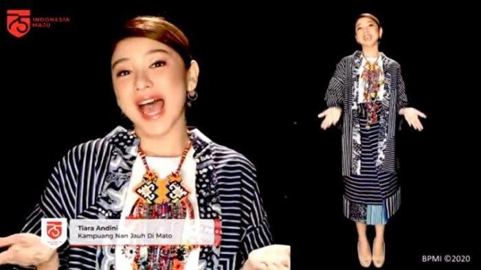 Tiara Andini menyanyikan lagu daerah berjudul Kampuang Nan Jauh Di Mato, ciptaan Mahyuddin dalam acara detik-detik proklamasi Indonesia.