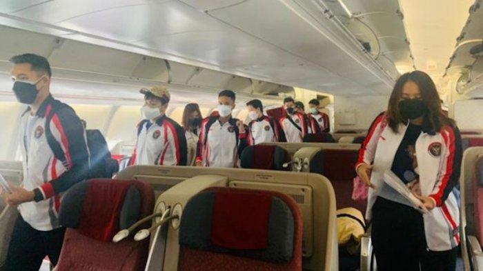 Tiba Olimpiade Indonesia  di Jepang, Tim Bulutangkis Indonesia Disambut KBRI Tokyo.