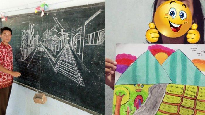 VIRAL Cara Guru di Purworejo Ajari Muridnya Menggambar, Bukan Cuma Sekedar Gambar Gunung dan Sawah