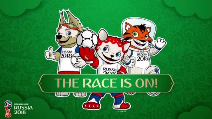 Tiga Calon Maskot Piala Dunia 2018 Diperkenalkan