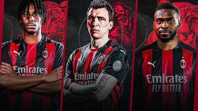 Tiga pemain baru AC Milan: Soualiho Meite, Mario Mandzukic, dan Fikayo Tomori