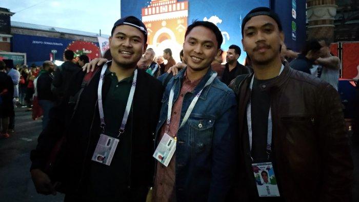 Tiga Pilot Muda Indonesia Ini ''hanya'' Keluarkan Rp 14 Juta untuk Nonton Piala Dunia di Rusia