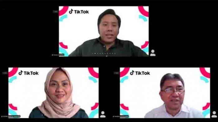 Peluncuran 'Toolkit Keamanan Keluarga TikTok' secara virtual, Rabu (10/2/2021).