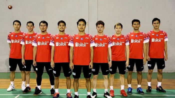 Live Streaming Badminton Asia Team Championships 2020, Sektor Putra Indonesia vs India via Mola TV
