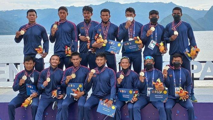 Tim Dayung Jawa Barat Juara Umum Cabor Dayung Dengan Total Raihan 19 Medali Emas