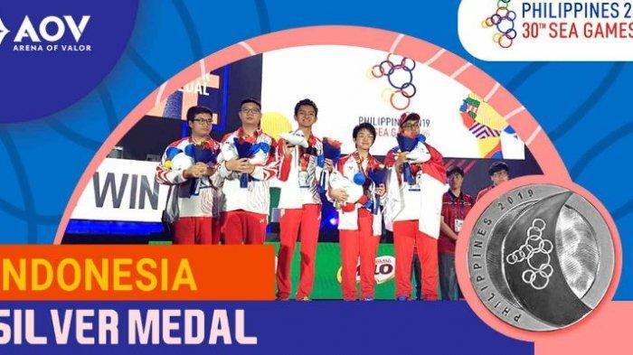 Tim Indonesia Cabang Esports AOV Bawa Pulang  Medali Perak