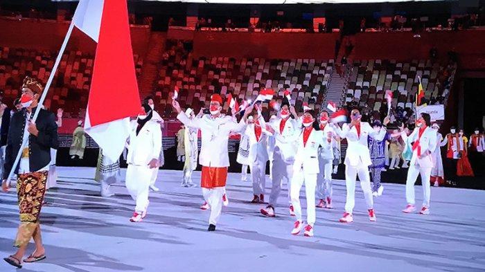 BERITA FOTO: Saat Tim Indonesia Muncul di Olimpiade Tokyo Jepang