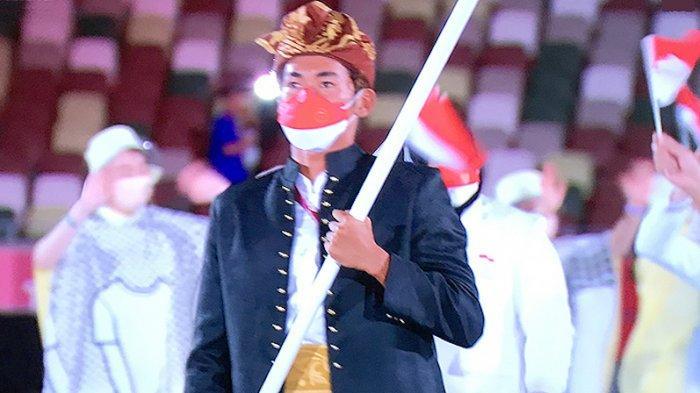 Tim Indonesia tampil dengan ceria di lapangan stadiun olahraga nasional Jepang (Kokuritsu Kyogijo