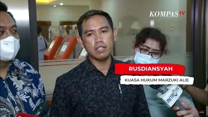 Tim Kuasa Hukum Mantan Sekjen Partai Demokrat Marzuki Alie, Rusdiansyah  s