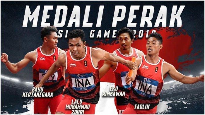Tim Estafet Putra Indonesia Berhasil Raih Medali Perak Asian Games 2018 dan Pecahkan Rekor Nasional