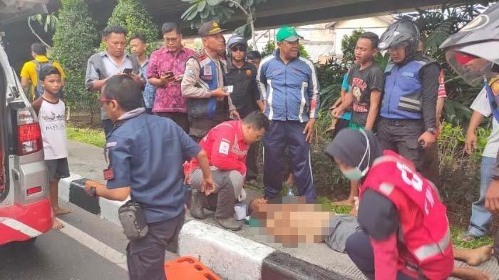 Kronologi Pria  Lompat dari Flyover, Putrinya Pingsan Lihat Tubuh Ayahnya Timpa Mobil Boks