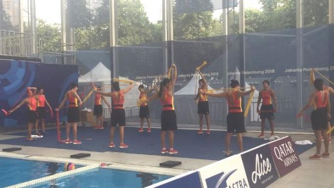 Pelatih Polo Air Putri China Sanjung Kemegahan Stadion Akuatik GBK