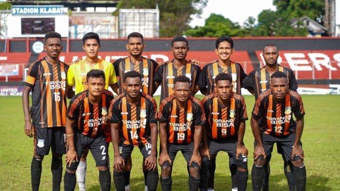 Tim Sepakbola PON Papua.