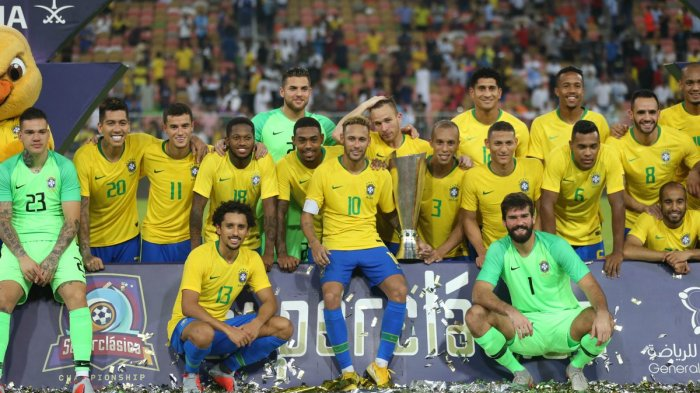Jadwal Siaran Langsung Laga Uji Coba - Brasil Live TV One, Argentina Live TVRI