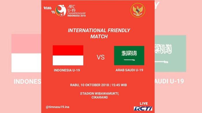 Live Streaming Timnas U-19 Indonesia vs Arab Saudi di RCTI, Tonton Lewat HP di Sini