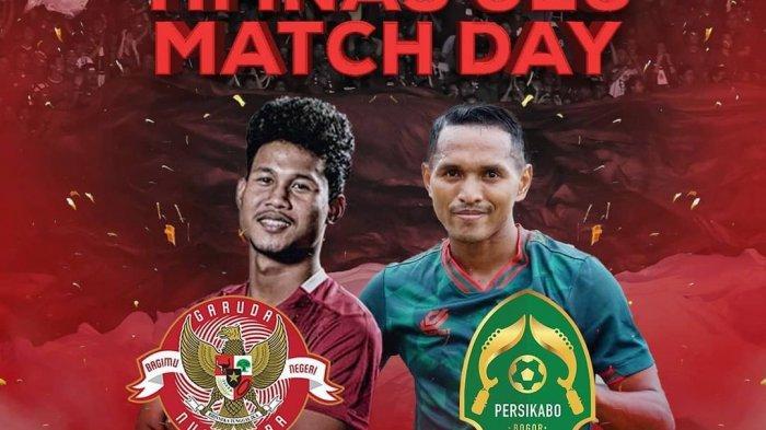 Timnas Indonesia U-23 vs Tira Persikabo tayang Jumat (5/3) malam ini Live Indosiar pukul 19.30 Wib