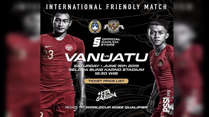 Jadwal Siaran Langsung Timnas Indonesia vs Vanuatu Laga Uji Coba Malam Ini, Live RCTI