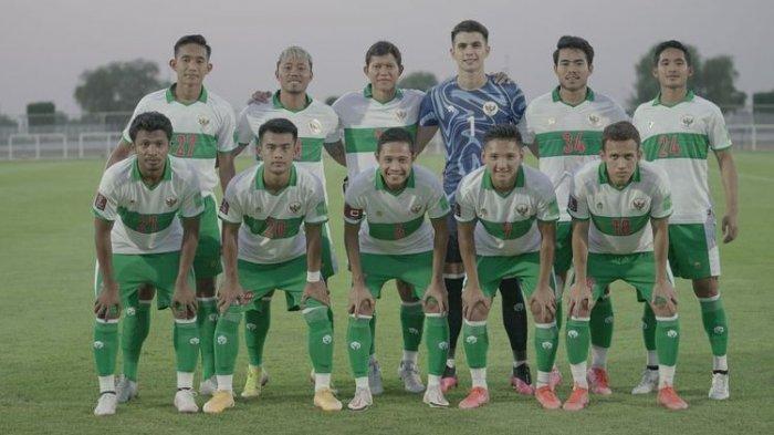 Timnas Indonesia saat melawan Vietnam