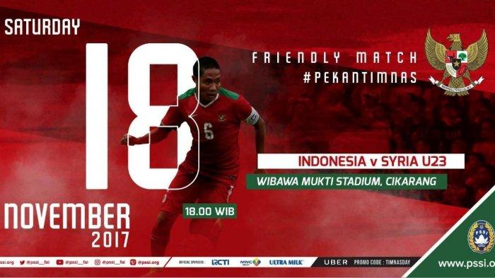 Timnas Senior Indonesia vs Timnas U-23 Suriah: Babak I Masih Imbang Tanpa Gol