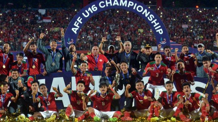 Timnas U-16 Indonesia Juarai Piala AFF U-16 2018, Ketum PSSI Edy Rahmayadi Janji akan Beri Bonus