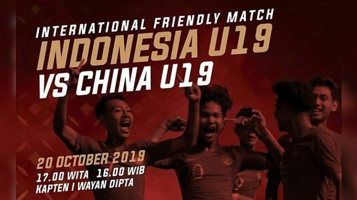 SEDANG BERLANGSUNG - Live Streaming Timnas U-19 Indonesia vs China U-19 Friendly Match 2019
